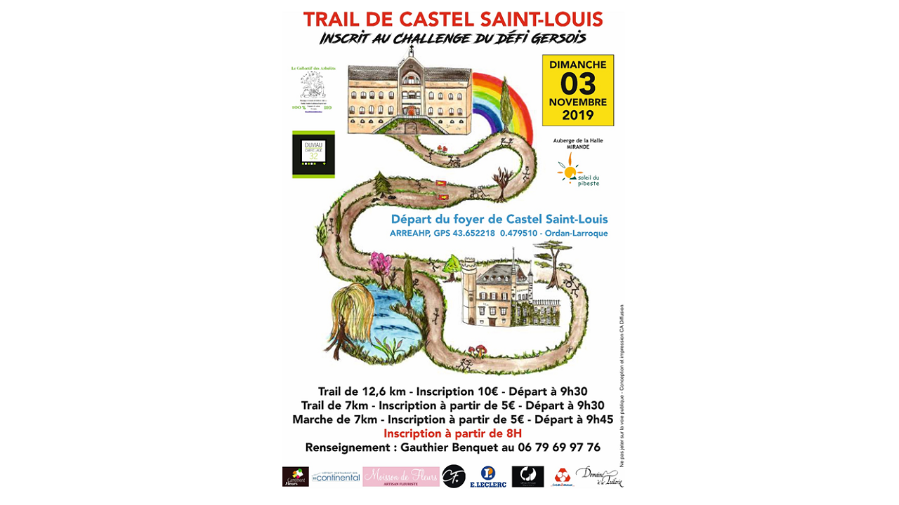 trail castel en paysage